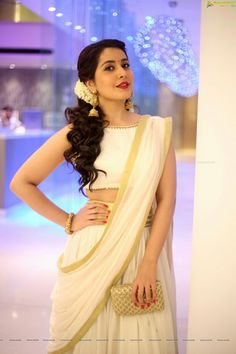 Rashi Khanna Latest Photos NOWRUNNING TELUGU Saree Hairstyles - indian hairstyles for suits indian hairstyles male Bridal Hairstyle Indian Wedding, Bridal Hairdo, Short Wedding Hair, Wedding Hairstyles For Long Hair, Short Hair, Curly Hair, Hairstyle Short, Hair Updo, Wedding Wear