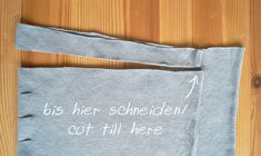 T-Shirt-Garn schneiden – Nur noch