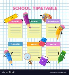 Find School Timetable Funny Cartoon Stationery Characters stock images in HD and millions of other royalty-free stock photos, illustrations and vectors in the Shutterstock collection. Thousands of new, high-quality pictures added every day. School Schedule, School Planner, Class Schedule, Timetable Planner, School Timetable, School Clipart, Wallpaper Iphone Cute, Funny Cartoons, Anchor Charts