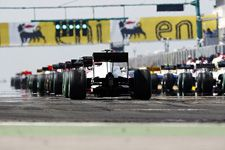 The start/finish line from the Hungarian F1 Grand Prix