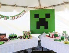 "Minecraft / Birthday ""Minecraft Themed Birthday Party"" | Catch My Party"