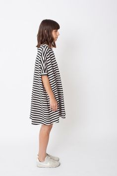 SALE20% Black & white dress oversize dress by OdeliaArnold on Etsy