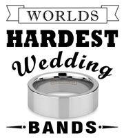 World's Hardest Wedding Bands Tungsten Carbide Rings, Precious Metals, Wedding Bands, Engagement, Engagements, Wedding Band, Wedding Band Ring, Halo Wedding Rings, Wedding Ring