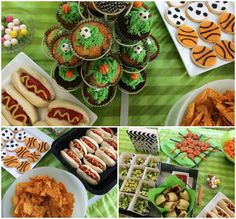 Sports Party themed food - Sports ball cupcakes, cookies and mini hotdogs Sports Food, Sports Party, Healthy Chicken Recipes, Low Carb Recipes, Ham And Cheese Crepes, Baked Roast, Coffee Health Benefits, Vegetable Nutrition, Image Healthy Food