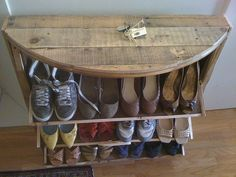entryway shoe rack holder..I seriously want this so bad.