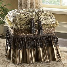 Fringed Tasseled Ottoman from Through the Country Door®