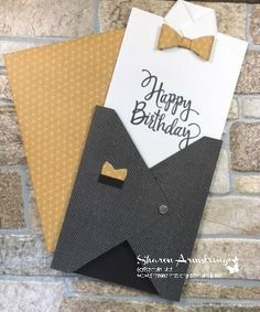 Manly Vest Birthday Card Make One Today Manly Vest Birthday Card can be made for any occasion such as birthday, Father's Day or a gift card holder for a groom to give to his groomsmen Envelope Punch Board, Bday Cards, Birthday Cards For Men, Male Birthday, Birthday Ideas, Birthday Gifts, Masculine Birthday Cards, Masculine Cards, Scrapbooking Original