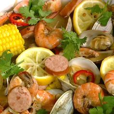 Michael Symon's New England Clambake recipe. #thechew