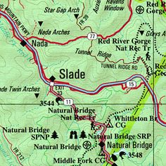 Trail Map Of Red River Gorge Best In Winchester Day Trips - The red river map us