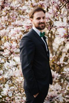 Love the green bow tie | WhiteSmoke Studio