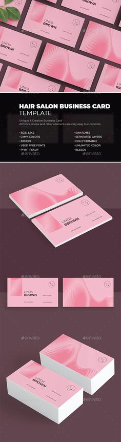 Hair Salon Business Card by bourjart_20 | GraphicRiver
