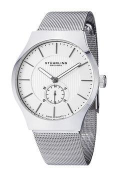 Men's Albion Original Mesh Bracelet Watch by Stuhrling on @HauteLook