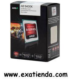 Ya disponible Cpu AMD s fm2 a6 5400k 3.6ghz 3.8ghz turbo box   (por sólo 69.89 € IVA incluído):   - Socket soportado: FM2 - Cache: 1MB - Numero de nucleos:2 - Conjunto de instrucciones: 64-bit - Velocidad de Reloj: 3,60 GHz (3.8GHz turbo) - Bus del Sistema: -- - Arquitectura: 32nm - Intel Graphics: Radeon HD 7540D - Formato: BOX      Garantía de 24 meses.  http://www.exabyteinformatica.com/tienda/3216-cpu-amd-s-fm2-a6-5400k-3-6ghz-3-8ghz-turbo-box #amd #exabyteinformatic