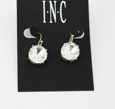 INC International Concepts Gold-Tone Crystal Stone Drop Earrings #INCInternationalConcepts #DropDangle