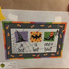 Pippin Halloween three needlepoint