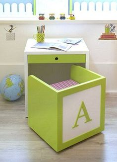 kid desk and chair for kid room or playroom Diy Casa, Space Saving Furniture, Girl Room, Child's Room, Diy For Kids, Kids Bedroom, Bedroom Toys, Childrens Bedroom, Wood Projects