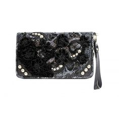 Leather & Lace Clutch - Fall 2014 - Handbags #mfaccessories