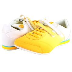 Nine West ATRANE Women's Sneaker - Yellow - My collection from top #designers Sneakers Fashion, Shoes Sneakers, Nine West Shoes, Fendi, Shoe Boots, Dior, Pairs, Yellow, Womens Fashion