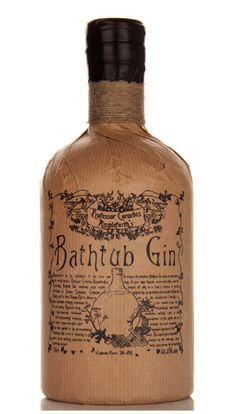 Professor Cornelius Ampleforth's Bathtub Gin..... Love the style, love the bottle...