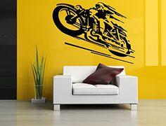 Wall Room Decor Art Vinyl Sticker Mural Decal Motorcycle Bike Ride Large AS1015 Sticker Cloud
