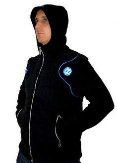 'Mechanoid' Hoody in black / blue. from about 2009.