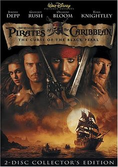 Pirates of the Caribbean: The Black Pearl (2003) When a young swain recruits rascally, charismatic pirate Capt. Jack Sparrow to help rescue a maiden from rival buccaneers, he and his motley crew soon find themselves up against frightening supernatural forces and an ancient curse. Cast: Johnny Depp, Geoffrey Rush, Orlando Bloom, Keira Knightley...8b