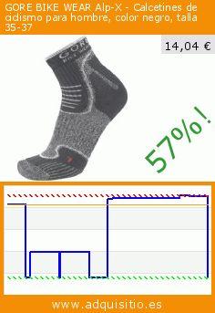 GORE BIKE WEAR Alp-X - Calcetines de ciclismo para hombre, color negro, talla 35-37 (Sports Apparel). Baja 57%! Precio actual 14,04 €, el precio anterior fue de 32,40 €. https://www.adquisitio.es/gore/bike-wear-alp-calcetines-3