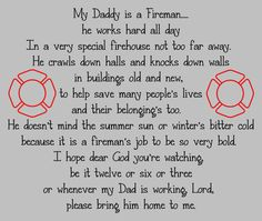 firefighter child's prayer, i want this in vinyl in the baby's room