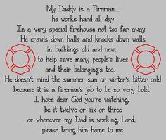 firefighter child's prayer