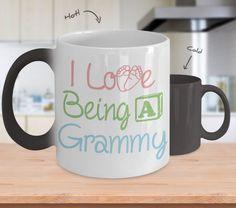Grammy Coffee Mug - I Love Being A Grammy - Black, White or Color Changing Mug / Grammy Present / Grammy Mug / Grammy Gifts by CaliKays on Etsy