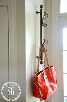 Remodelaholic DIY Hall Tree Coat Rack Inspired By . New York Closet Shelves Clever Closet Diy Clothes Rack . Home and Family Entry Coat Rack, Coat Racks, Diy Coat Rack, Coat Tree, Wall Mounted Coat Rack, Wall Coat Rack, Door Coat Hanger, Hanging Coat Rack, Purse Hanger