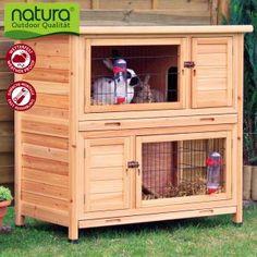 Clapier Pour Lapin Et Cochon D Inde Natura à étage Zooplus