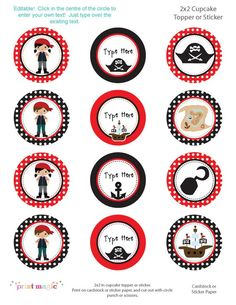 really cute pirate printables--not | http://amazingbirthdayideas.blogspot.com