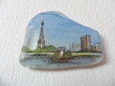 Paris France skyline  Acrylic miniature by ShePaintsSmallThings, $12.00