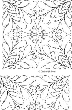 Beautiful free-motion designs at Quilters Niche. These are digitized designs for longarm quilting. source: Quilters Niche