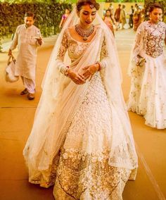 White Bridal lehngha