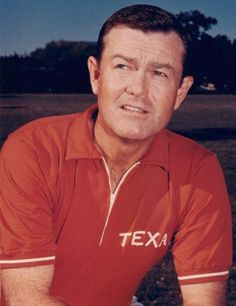 Darrell Royal (1924-2012), University of Texas football coach, 1957 to 1976. In 23 years as a coach, Royal never had a losing season., His record at UT, 167-47-5, was the best in the nation over that period. Royal's Longhorns won 11 Southwest Conference titles, 10 Cotton Bowl championships, and two national championships, in 1963 and 1969. (They shared the national title with Nebraska in 1970.) Royal was inducted into the College Football Hall of Fame in 1983.