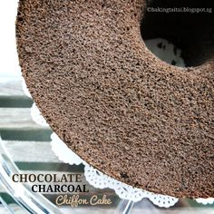 Baking Taitai 烘焙太太: Charcoal Chocolate Chiffon Cake 竹炭巧克力戚风蛋糕(中英加图对照食谱)