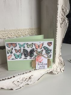 Stampin Up Sheer Perfection Butterflies Quick Cards, Diy Cards, Thanks Card, Butterfly Cards, Paper Crafts, Card Crafts, Color Inspiration, Stampin Up, Decorative Boxes