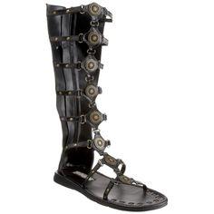 521abfacca8 ROMAN-15 Men s Flat Roman Sandal Gladiator Sandal Costume Sandal Black  Gladiator