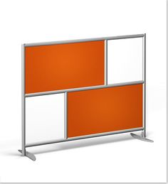 Room Divider with Orange Acrylic and clear Frosted Acrylic
