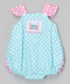Look at this Blue & Pink Smocked Castle Bubble Bodysuit - Infant on #zulily today!