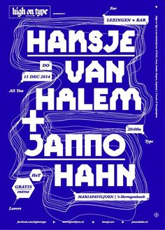 High On Type Lectures. Poster design by ATTAK