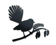 Small Fantail On Kowhai. Like the silhouette style Tui Bird, Maori Symbols, Bird Outline, Bird Stencil, Stencil Art, Bird Template, Maori Designs, New Zealand Art, Nz Art