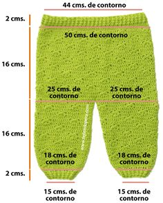pantalón crochet o ganchillo 0 a 3 meses
