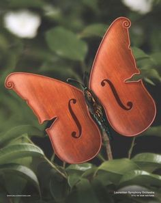 The Print Ad titled BUTTERFLY was done by Allard Johnson Communications Toronto advertising agency for product: Laurentian Symphony Orchestra (brand: Orchestre Symphonique Des Laurentides) in Canada. Piano Y Violin, Violin Art, Violin Music, Piano Keys, Saxophone Instrument, Humor Musical, Music Humor, Sound Of Music, Music Is Life