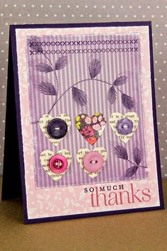 Thankful Hearts Card by Erin Lincoln for Papertrey Ink (December 2012)