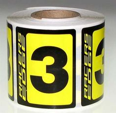 #3 RACE NUMBER BLACK/YELLOW