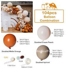 Orange Balloons, Pastel Balloons, Gold Balloons, Qualatex Balloons, Custom Balloons, Balloon Garland, The Balloon, Balloon Decorations, Balloon Arch Diy