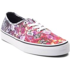 Vans Authentic Floral Fade Skate Shoe ($65) ❤ liked on Polyvore featuring  shoes,